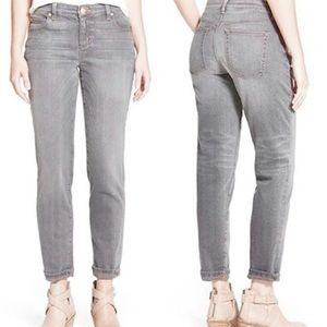 Eileen Fisher Straight Leg High Rise Gray Jeans 14